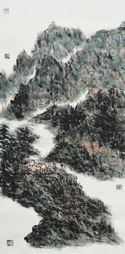 《山深林木幽》水墨 2018年50cmx100cm