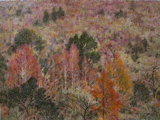 《层林尽染》60x80cm布面油彩
