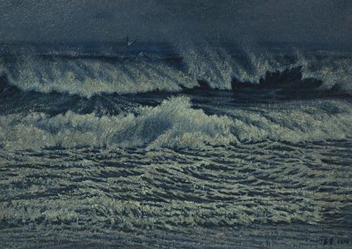 《蓝色诱惑》46x65cm布面油彩