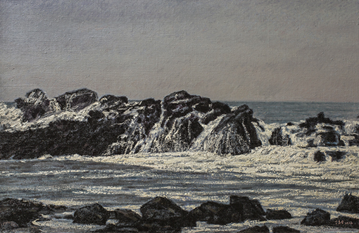 《南海豪情》65x100cm布面油彩
