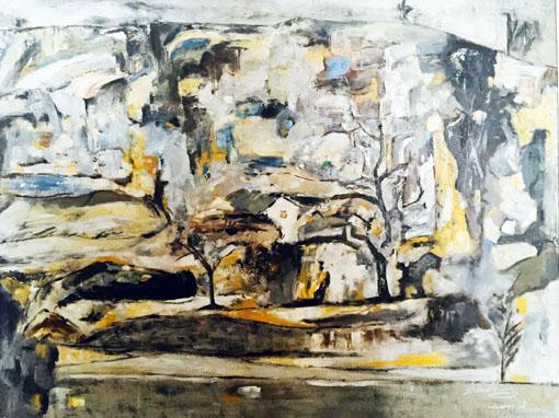 《野村》入选中国美协主办新世纪油画展。80x60cm