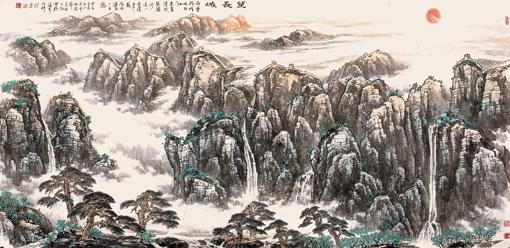《望长城》规格:240×120cm