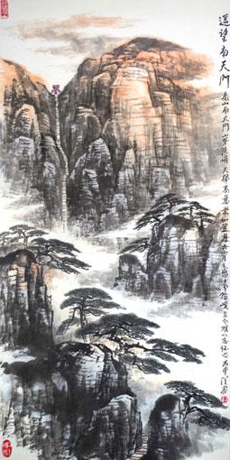 《遥望南天门》规格:138×68cm