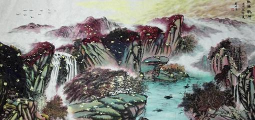 《红满乾坤》规格:98x178cm 创作于戊戌年仲夏