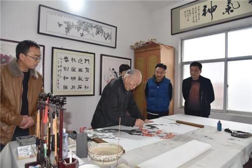 扶沟县举办庆祝中国记者节新闻书画笔会