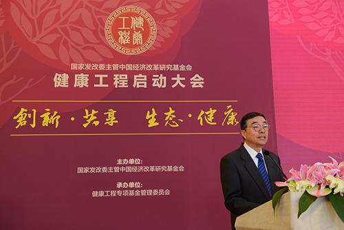 中国经济改革研究基金会健康工程组委会主任何丕洁致辞。