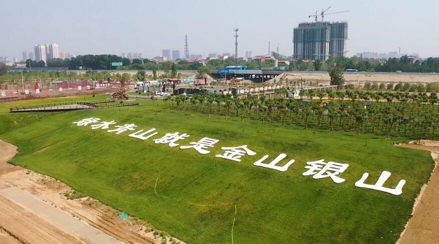 绿化生态工程 又见滹沱河生态之美