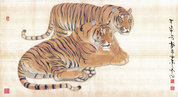 王云仙作品《虎・清平世界》六平尺
