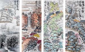 著名书画家杨涛——四季山水系列作品鉴赏